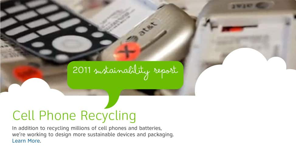 In addition to recycling millions of cell phones and batteries, we're working to design more sustainable devices and packaging.