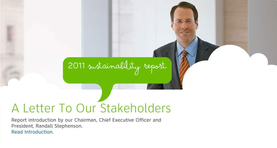 Report introduction by Chairman and CEO Randall Stephenson.