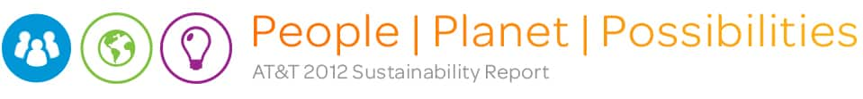 People. Planet. Possibilities. AT&T 2012 Sustainability Report