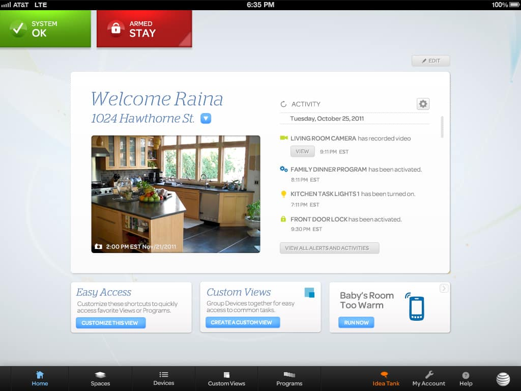 Home Security And Automation From At Amp T Digital Life At Amp T