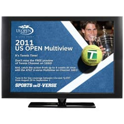 AT&T U-verse US Open Multiview