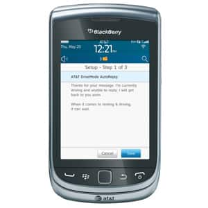 AT&T DriveMode App Auto-Reply Customization Screen