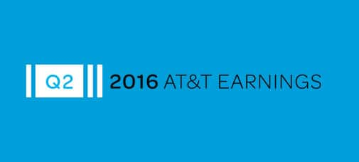 AT&T Reports Second-Quarter 2016 Results