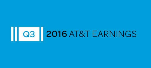 AT&T Reports Third-Quarter 2016 Results