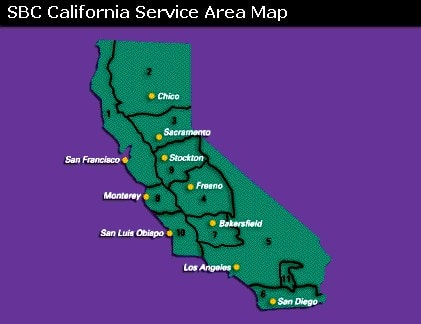 Service Area Map Graphic