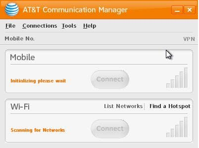 AT&T Wi-Fi Connection Software