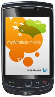 AT&T myWireless Mobile app on the BlackBerry Torch
