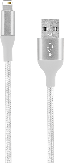 AT&T Braided Lightning Cable - 10ft - White