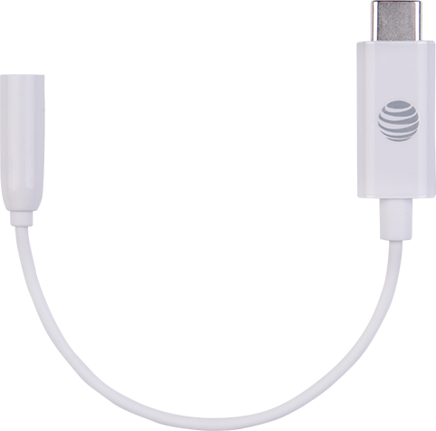 AT&T USB-C to 3.5mm Adaptor - White