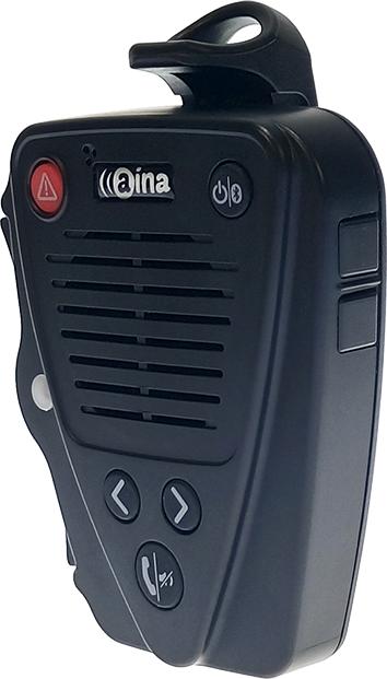 Aina Bluetooth Remote Speaker Mic for Kyocera Duraforce Pro - Black
