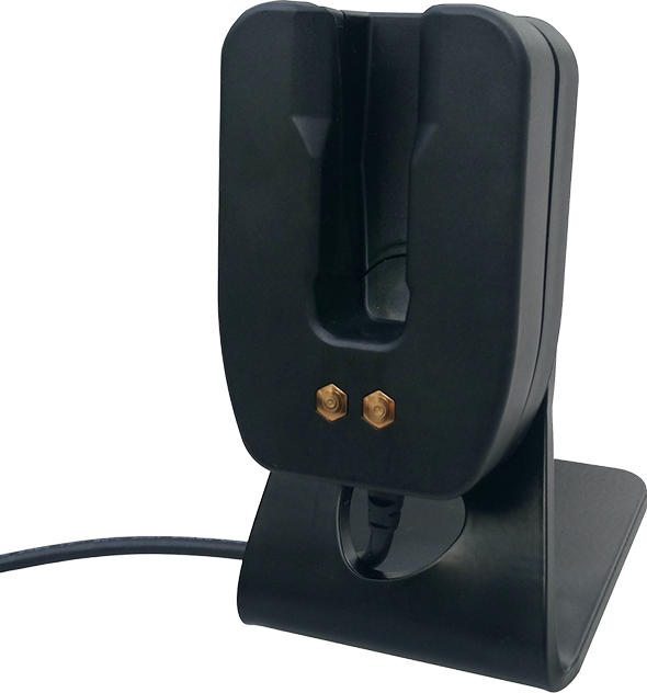 Aina Single Drop in Desk Charger for Remote Speaker Microphone - Samsung X Cover Field Pro - Black