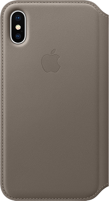 Apple Leather Folio Case - iPhone X