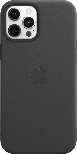 Apple iPhone Leather Case + MagSafe - iPhone 12 Pro Max - Black
