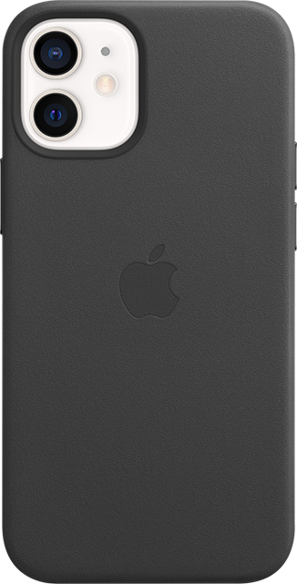 Apple iPhone Leather Case + MagSafe - iPhone 12 mini - Black