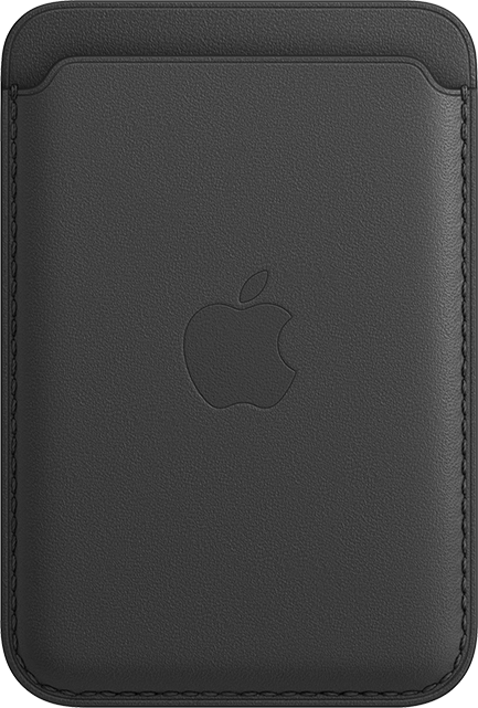 Apple iPhone Leather Wallet + MagSafe - Black