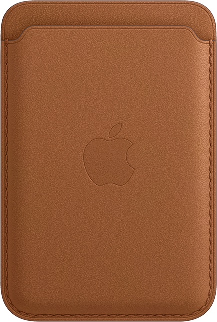 Apple iPhone Leather Wallet + MagSafe - Saddle Brown