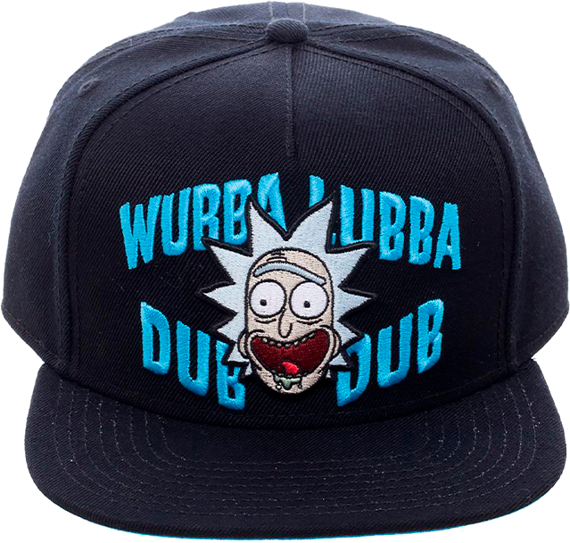 Gorro con etiqueta tejida Bioworld Rick and Morty Wubba Dub, negro