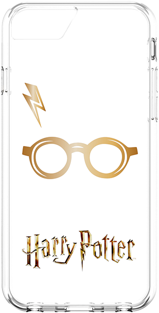 Fellowes Harry Potter Glasses and Lightning Bolt Case for iPhone 6s/7/8 (Clear)