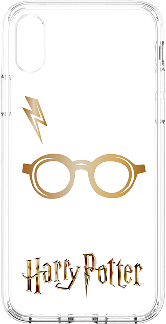 Fellowes Harry Potter Glasses and Lightning Bolt Case - iPhone X/Xs - Clear