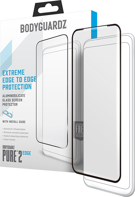 BodyGuardz Pure 2 Edge Tempered Glass Screen Protector - iPhone XS Max