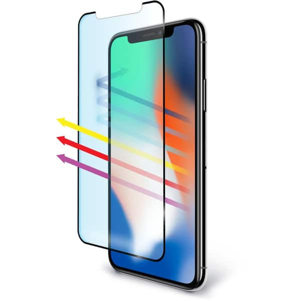 BodyGuardz Pure 2 EyeGuard Edge Tempered Glass Screen Protector - iPhone X