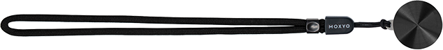 Moxyo Anodized Zigi Band with Black Lannyard - Black