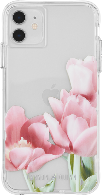 Carson & Quinn Pink Tulips Case - iPhone 11/XR - Multi