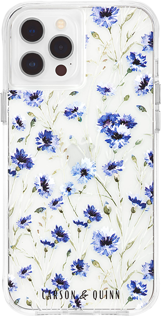 Carson & Quinn Royalty Blue Flowers Case - iPhone 12/12 Pro - Multi