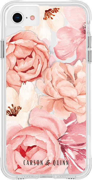 Estuche Carson & Quinn Watercolor Flowers para el iPhone SE (2020)/8/7/6s - Multicolor