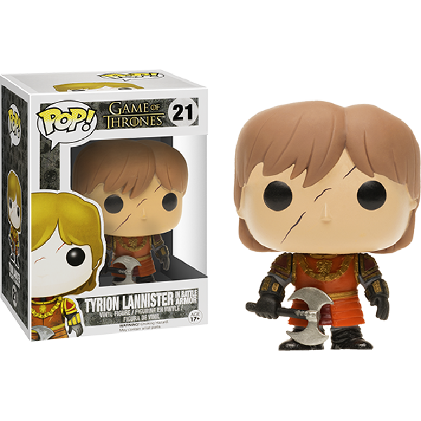 Funko Pop Game of Thrones Tyrion with Scar Battle Armour