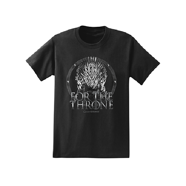 Isaac Morris Black Game of Thrones For the Throne Tee - Black
