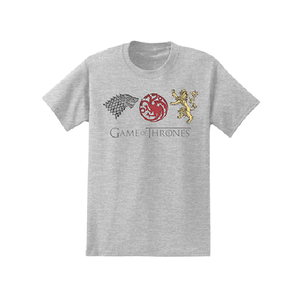 Isaac Morris Gray Game of Thrones Sigils Tee
