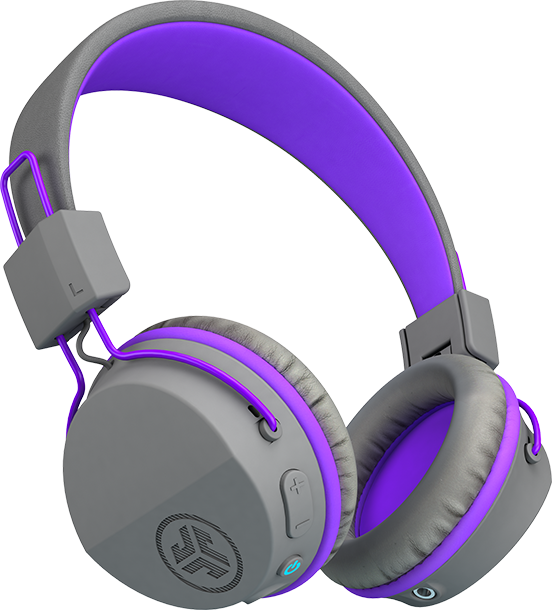 JLab J Buddies Studio Wireless Over Ear Kids Headphones - Purple