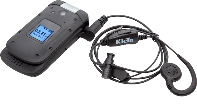 Klein CURL Wired PTT Headset for XP3 - Black