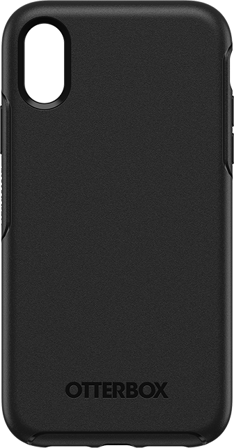 Estuche OtterBox Symmetry Series para iPhone XR, negro