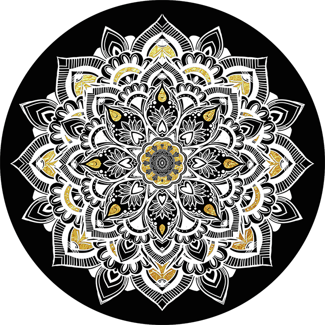 PopSocket Golden Lace - Golden Lace - Black
