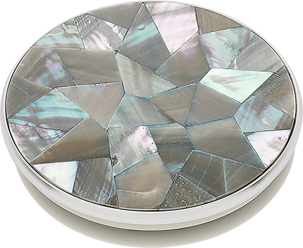 PopSocket PopGrip Abalone Mosaic - Silver