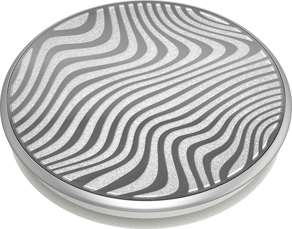 PopSocket PopGrip Lasercut Metal Terrain Wave - Silver