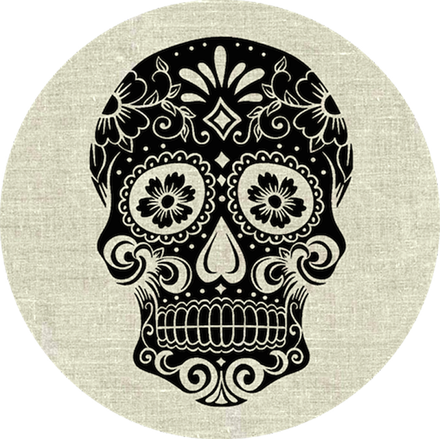 PopSocket Sugarskull on Linen - Sugarskull on Linen - Gray