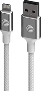 Cable USB A a Lightning AT&T de 6', blanco