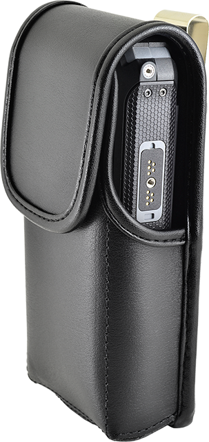 Sonim Leather Pouch with Metal Clip - Sonim XP5s - Black