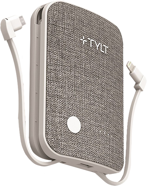 TYLT Xcele 3 Battery Pack with Wall Prongs & Connectors - Gray