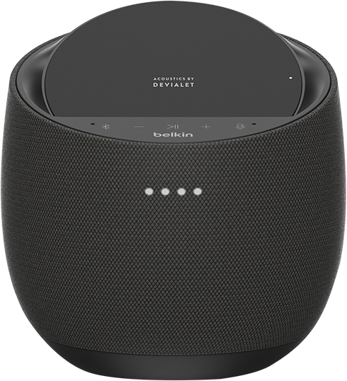 Belkin SoundForm Elite Smart Speaker + Wireless Charger - Black