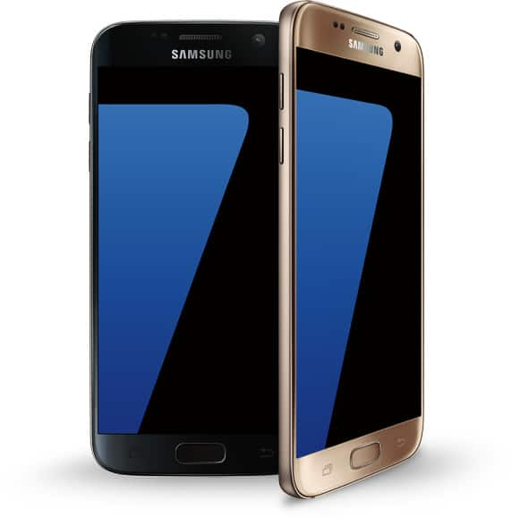samsung galaxy s7 factory unlocked 32gb g930t at t t mobile 4g lte black gold ebay. Black Bedroom Furniture Sets. Home Design Ideas