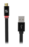 Scosche FlatOUT LED Micro USB Cable - Black
