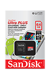 SanDisk Ultra microSDXC UHS-I Card with Adapter