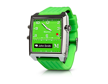 Martian G2G Voice Command Smart Watch - Lime