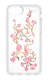 Speck GoldenBlossoms Presidio Clear + Print Case - iPhone SE (2020)/8/7/6s