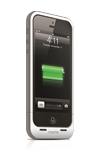 mophie Juice Pack Plus White Charging Case - iPhone 5