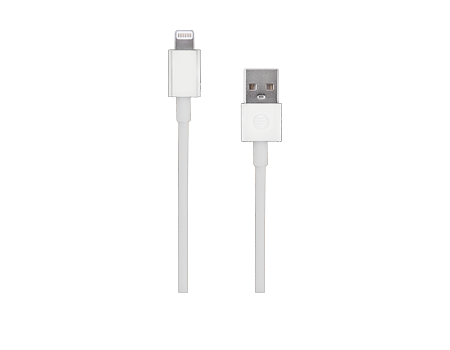 White Charge And Sync Cable Lightning To Usb